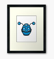 Robot funny cool toys fun antennas Framed Print