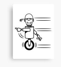Funny cool fast funny goofy robot comic Canvas Print