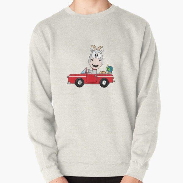 Ziege - Goat - Auto - Reise - Weltenbummler - Tier - Comic Pullover