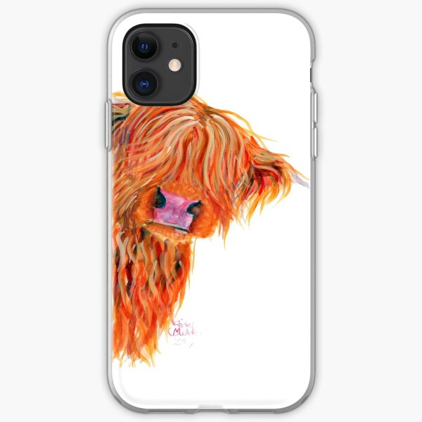 HIGHLAND COW 'PEEKABOO' BY SHIRLEY MACARTHUR iPhone Soft Case