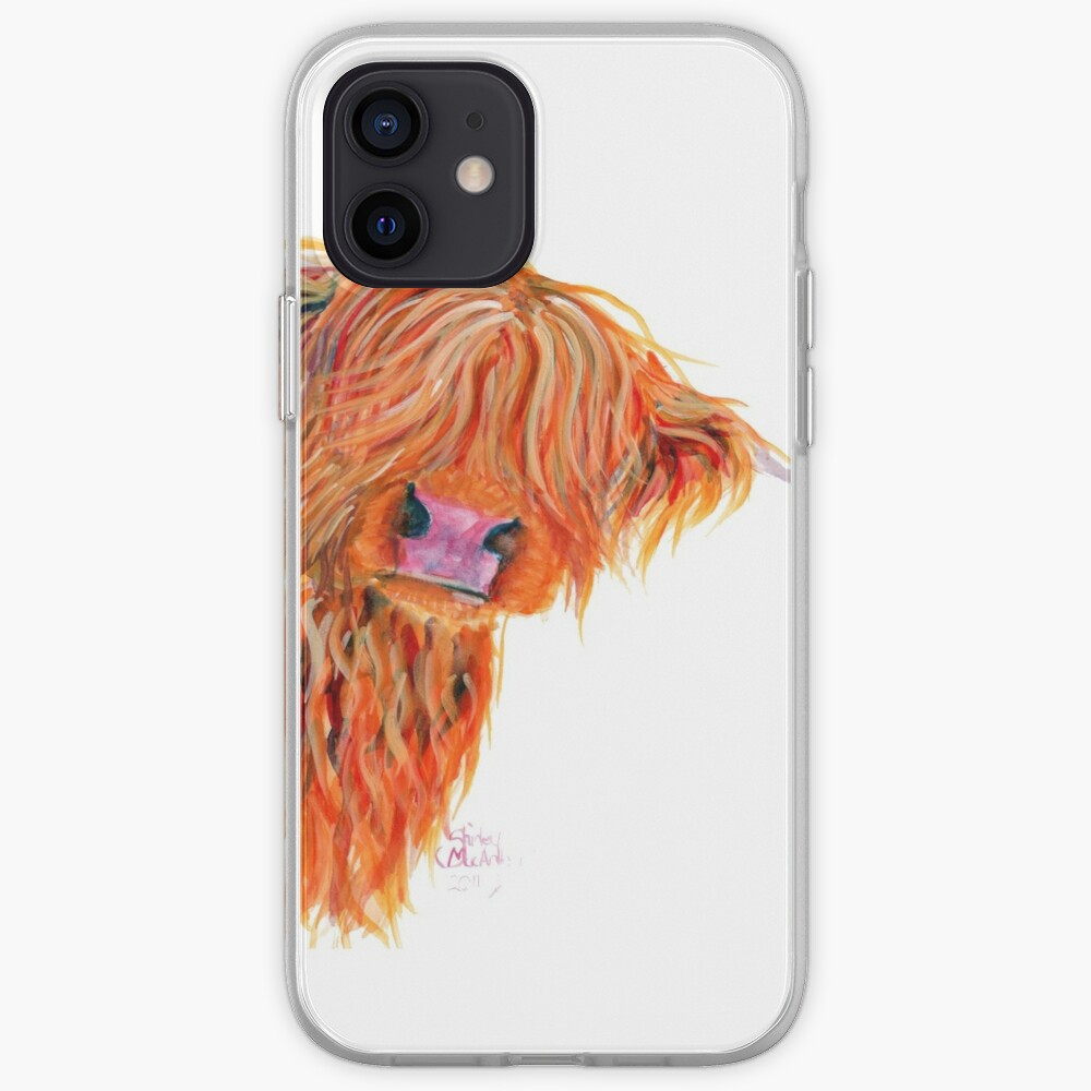 HIGHLAND COW 'PEEKABOO' BY SHIRLEY MACARTHUR iPhone Case & Cover