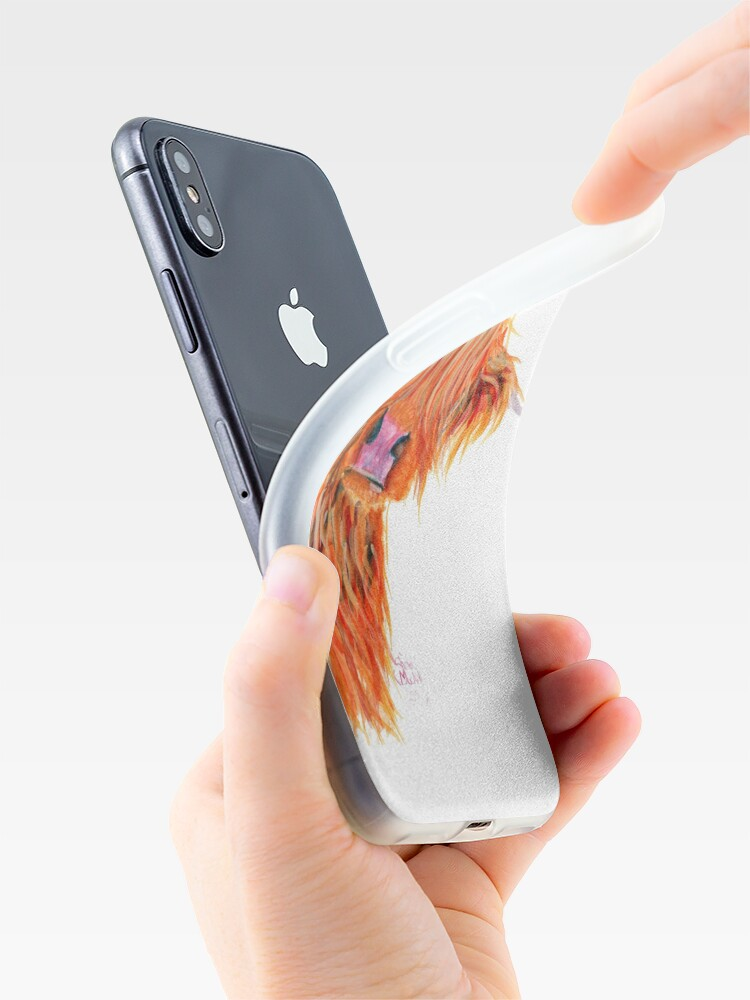 Alternate view of HIGHLAND COW 'PEEKABOO' BY SHIRLEY MACARTHUR iPhone Case & Cover