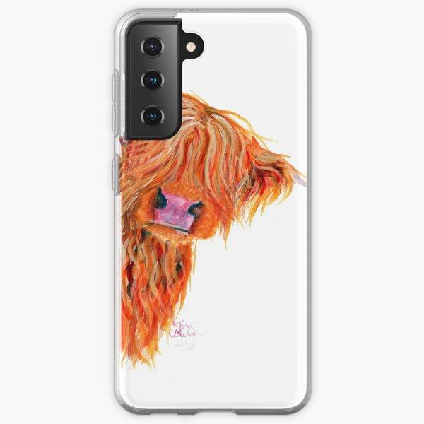 HIGHLAND COW 'PEEKABOO' BY SHIRLEY MACARTHUR Samsung Galaxy Soft Case