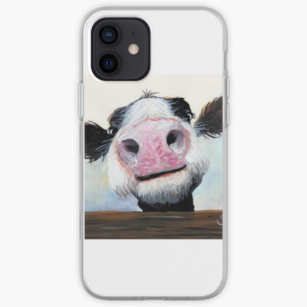 NOSEY COW 'HEY! HOW'S IT GOIN'?' BY SHIRLEY MACARTHUR iPhone Soft Case