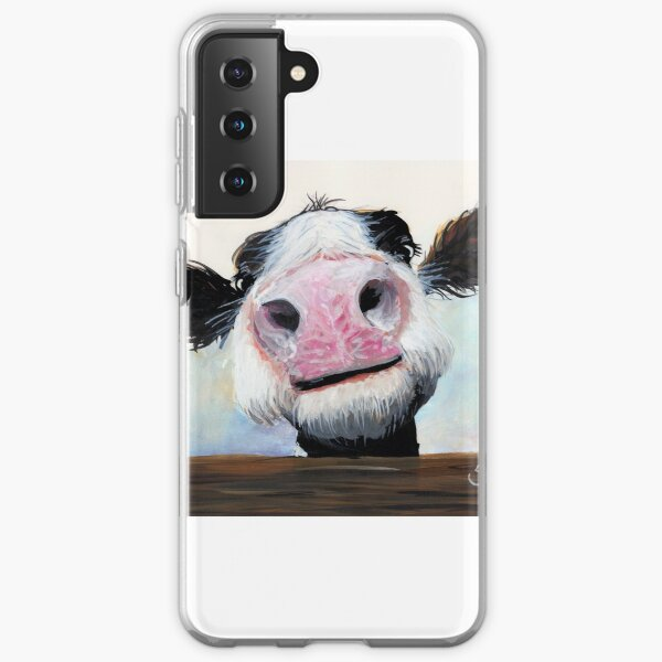 NOSEY COW 'HEY! HOW'S IT GOIN'?' BY SHIRLEY MACARTHUR Samsung Galaxy Soft Case