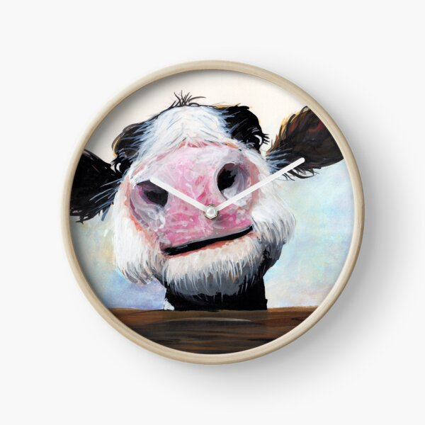 NOSEY COW 'HEY! HOW'S IT GOIN'?' BY SHIRLEY MACARTHUR Clock
