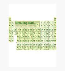 Breaking Bad periodic table Photographic Print