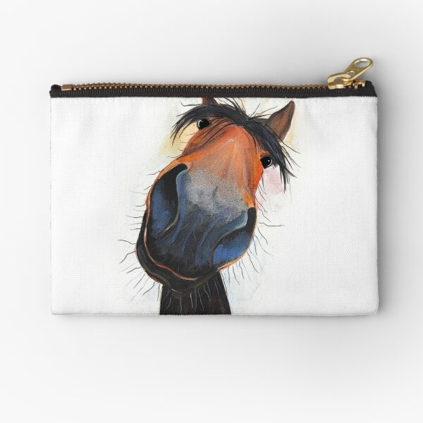 HORSE PRiNT 'HAPPY DAVE' BY SHIRLEY MACARTHUR Zipper Pouch