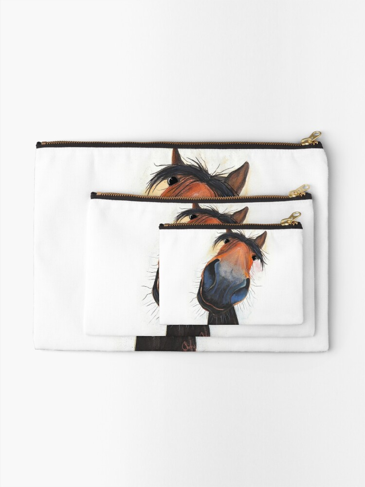 Alternate view of HORSE PRiNT 'HAPPY DAVE' BY SHIRLEY MACARTHUR Zipper Pouch
