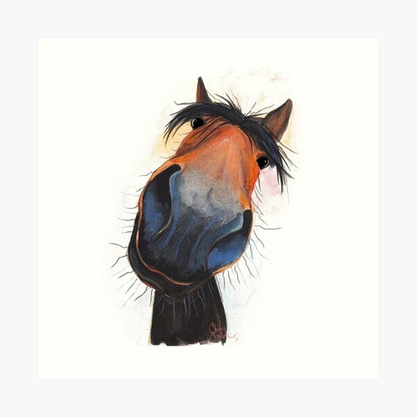 HORSE PRiNT 'HAPPY DAVE' BY SHIRLEY MACARTHUR Art Print