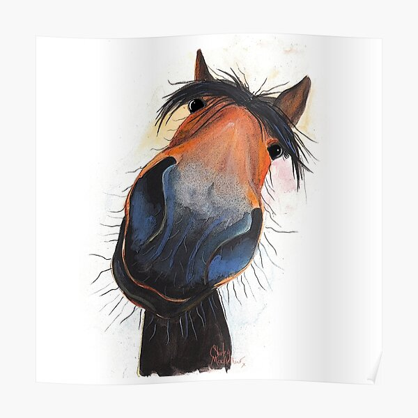 HORSE PRiNT 'HAPPY DAVE' BY SHIRLEY MACARTHUR Poster