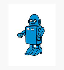 Robot funny cool design funny cartoon Photographic Print
