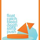FLOAT, CATCH, BLEED, DEATH, STIFF, & PUSH by SecondHandShoes