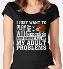 Hedgehog Women's Fitted Scoop T-Shirt