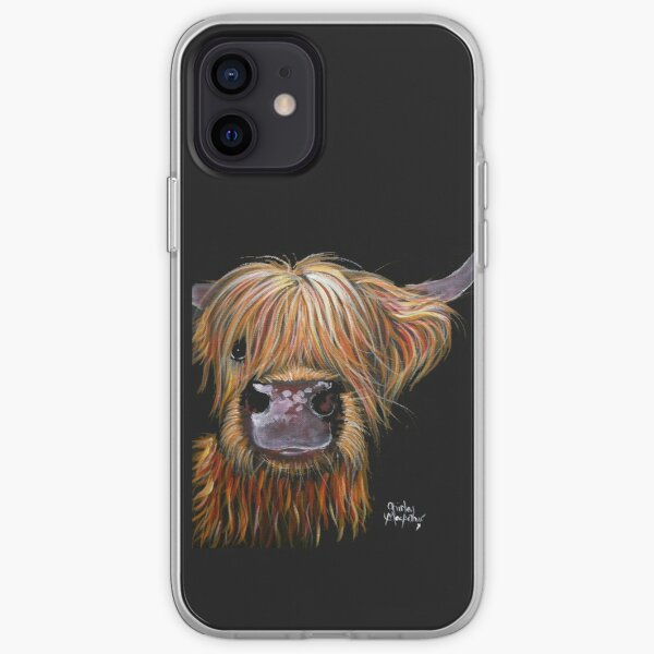 SCOTTISH HAIRY HIGHLAND COW 'HENRY' By Shirley MacArthur iPhone Soft Case