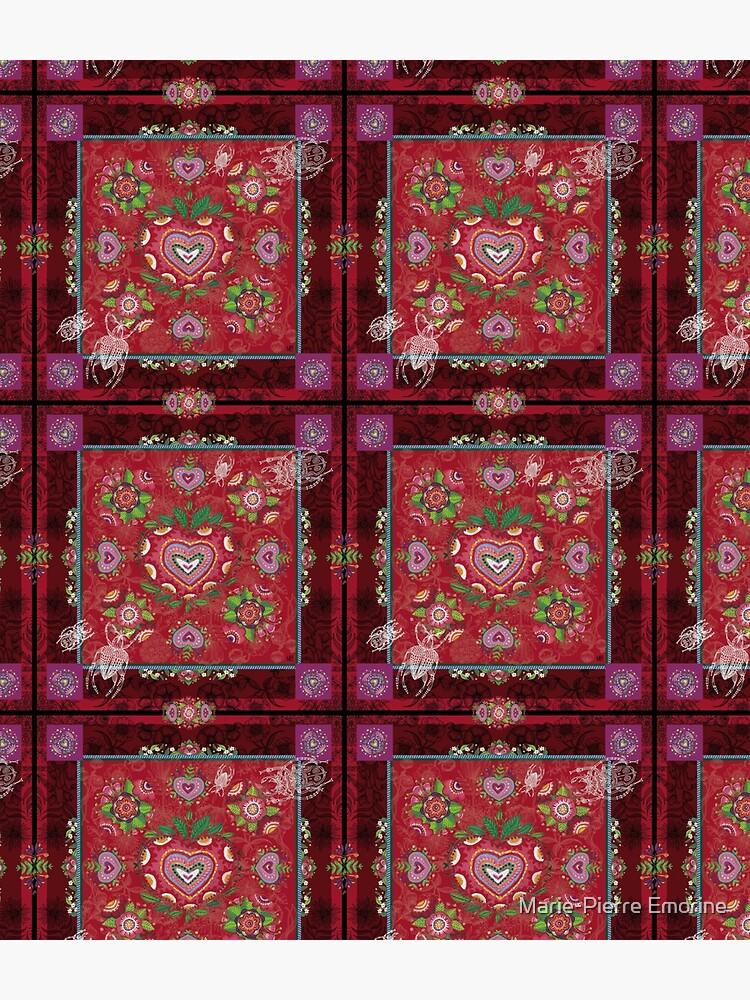 «CARRE FLORAL- Ambiance Rouge Gourmand» par MariePommette