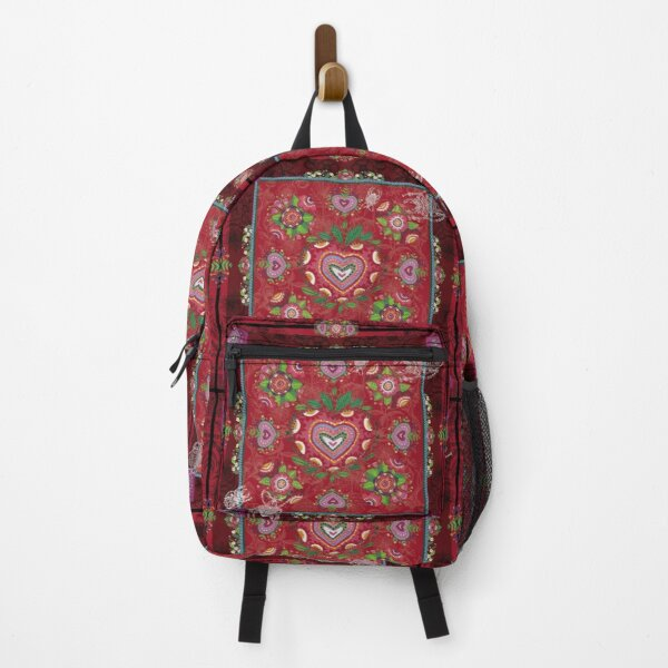 CARRE FLORAL- Ambiance Rouge Gourmand Sac à dos