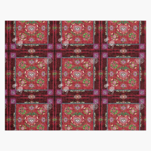 CARRE FLORAL- Ambiance Rouge Gourmand Puzzle
