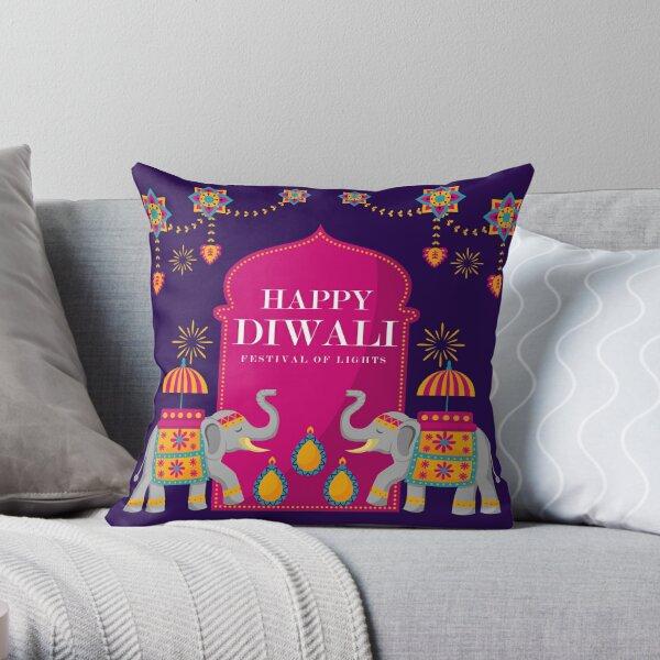 Happy Diwali - Festival Of Lights Throw Pillow