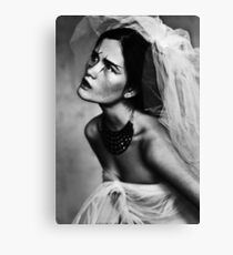 Bride portrait Canvas Print