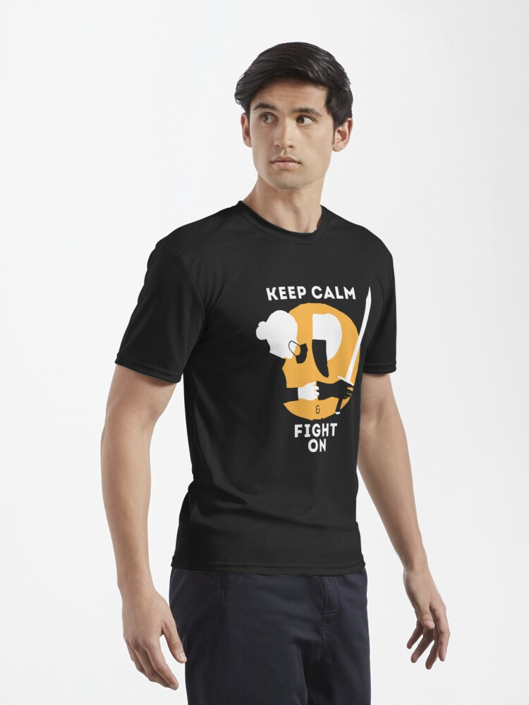 Alternate view of Keep Calm & Fight On Active T-Shirt