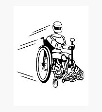 Cool funny robot wheelchair funny Photographic Print