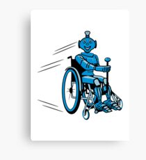 Robot cool humorous light wheelchair funny Canvas Print