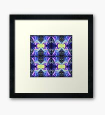 PILLOW FLOWER BLUE Framed Print