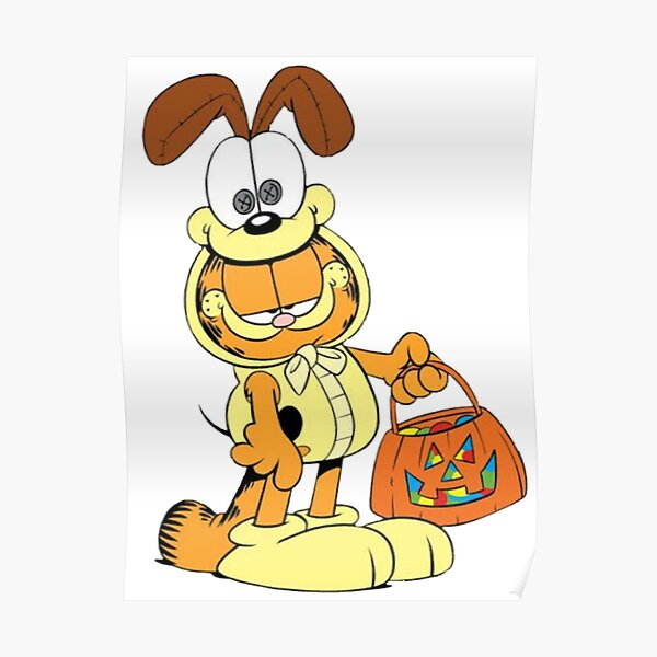Garfield Cowboy With Pumpkin Poster By Sura1234 Redbubble