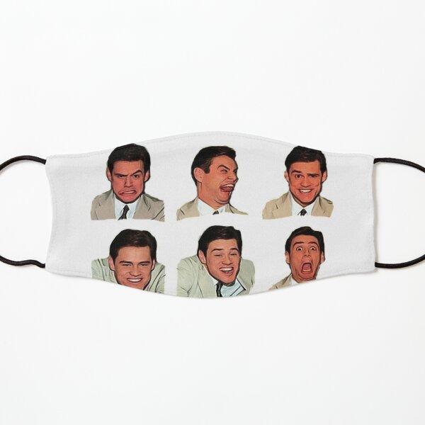 Jim Carrey faces, cartoon digital artwork, cool funny comedy movies, famous actors, good vibes, gift, present, ideas, sticker set, sticker pack, bundle Kids Mask