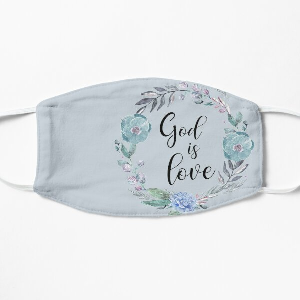 GOD IS LOVE, bible verse Mask