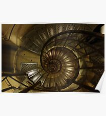 The Spiral Staircase at the Arc de Triumph Poster