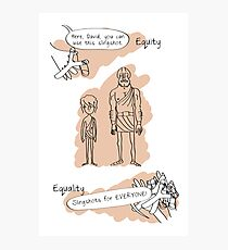 Equity vs. Equality Photographic Print