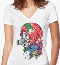 Steam Punk doodle Women's Fitted V-Neck T-Shirt