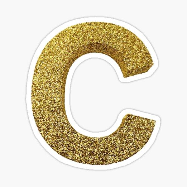 Gold Letter C Sticker