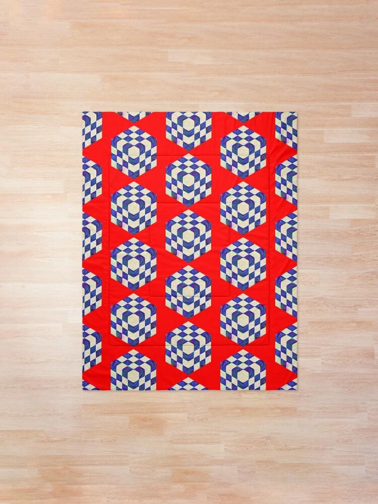 Alternate view of #DeepDream Color Squares Visual Areas 5x5K v1448964615 Comforter