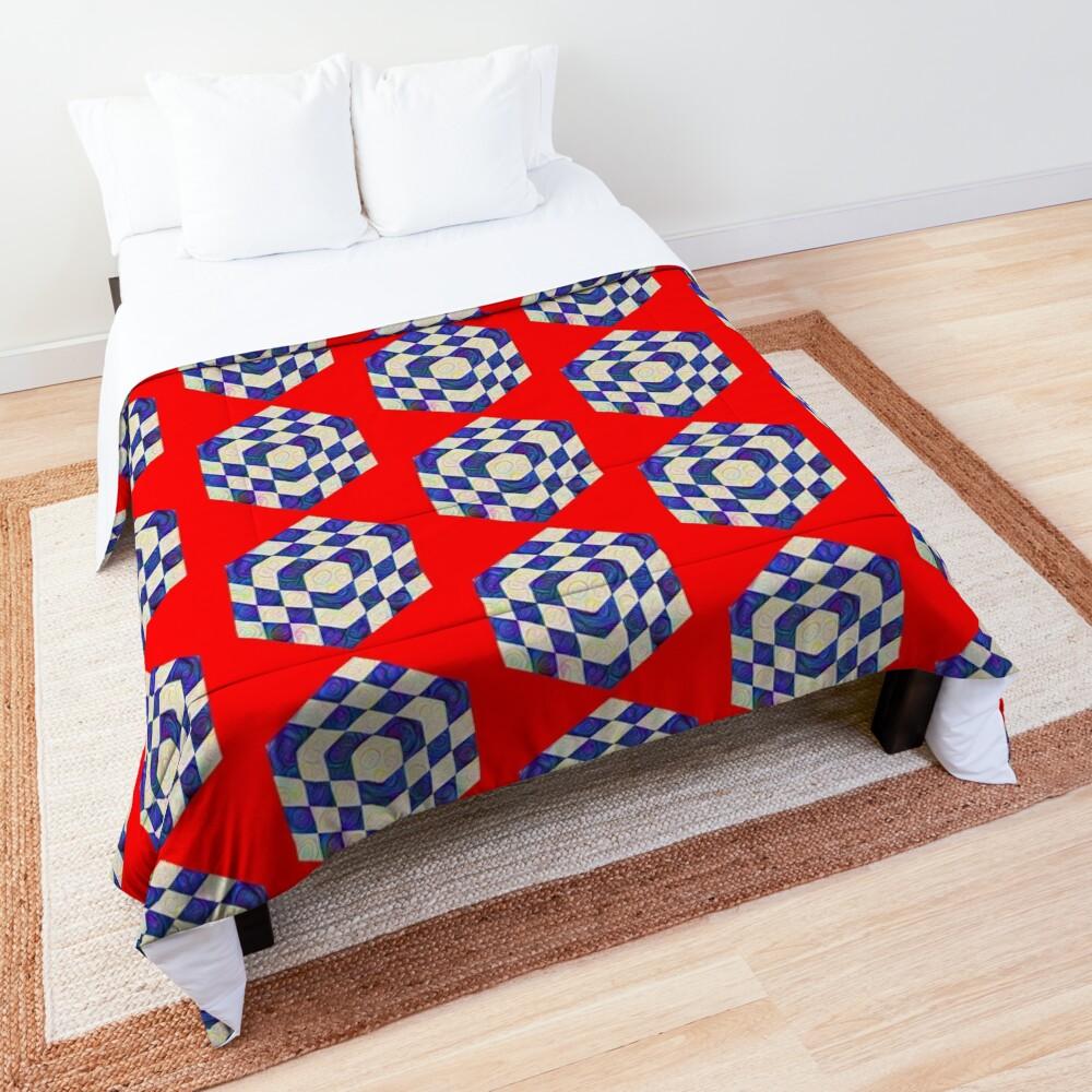 #DeepDream Color Squares Visual Areas 5x5K v1448964615 Comforter