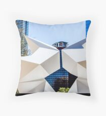 Geometric Sculture in Austin Throw Pillow
