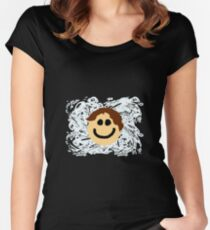 Smiley Face Splash Women's Fitted Scoop T-Shirt