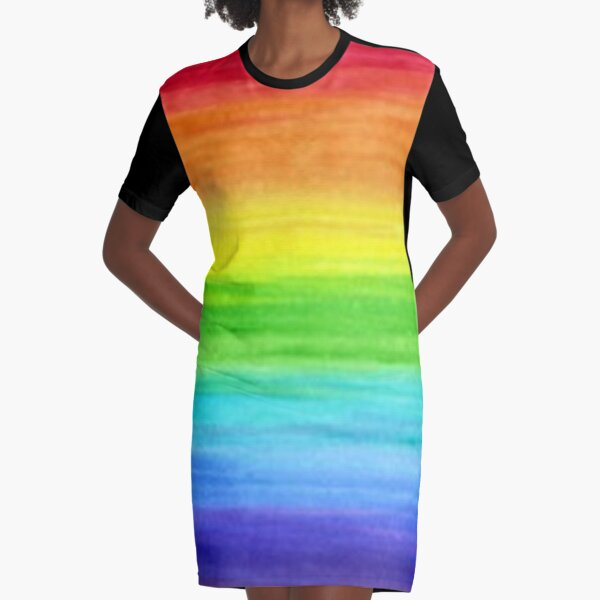 """Energetic Abstractions - """"Watercolour Stripes"""" Graphic T-Shirt Dress"""