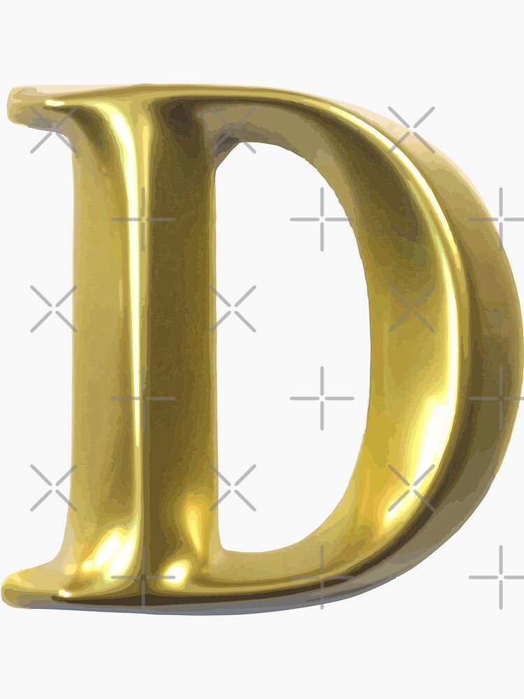 LETTER D by stickysterscom