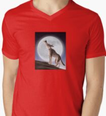 Howling Wolf Mens V-Neck T-Shirt