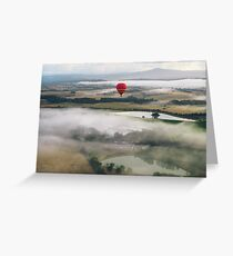 Hot Air Balloon At Sunrise, Yarra Valley, Australia Greeting Card