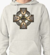 Gold Celtic Cross  Pullover Hoodie