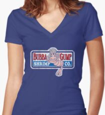Bubba Gump Women's Fitted V-Neck T-Shirt