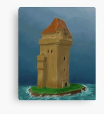 Tower in the sea Canvas Print