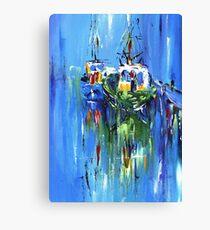 Semi abstract boats Canvas Print