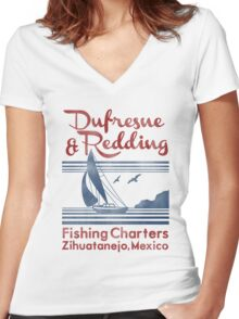 Dufresne and Redding  Women's Fitted V-Neck T-Shirt