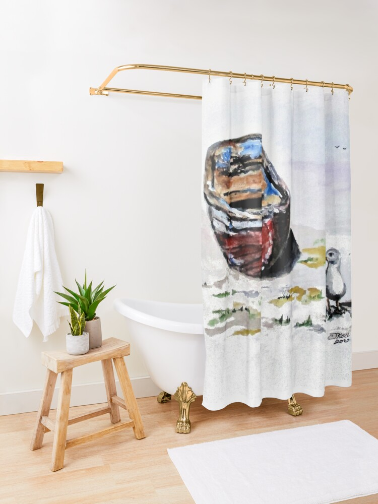 Alternate view of Anticipation Shower Curtain