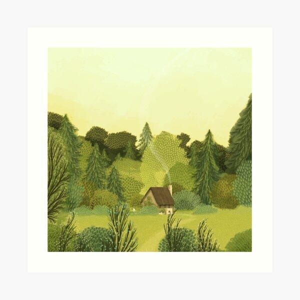 The Teeny Tiny Gardener Art Print